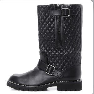 Coming soon chanel 41 quilted motorcycle boots